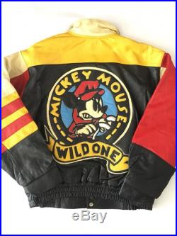 Rare Disney Mickey Mouse Wild One 100 Genuine Leather