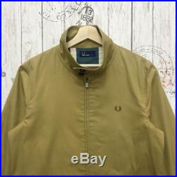 Rare Fred Perry Small Logo Embroidery Flat Great Britain Long Jacket Zipper Size L