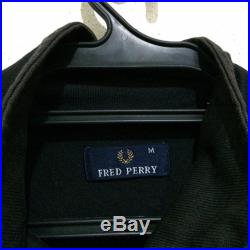 Rare Vintage FRED PERRY embroidery Logos Jacket Color Vtg Sweater Pullover Full Zipper Jacket Made in PORTUGAL