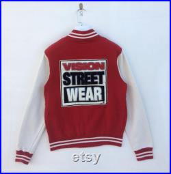 Rare Vision Street Wear varsity big logo spell out button on jacket S size