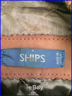 SHIPS suede jacket made in italy medium size