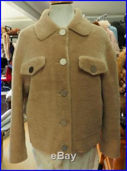 Shearling Shirt Style Jacket Super Soft Leather Designed to Beat the Winter Wind
