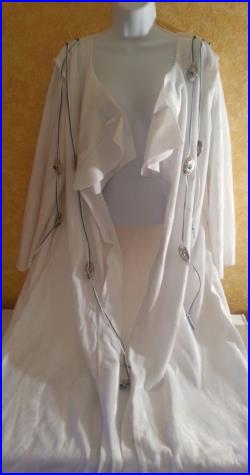 Southwestern Style Unisex White Faux Pony Skin Maxi Coat (Special Order Only Many Colors Available) Wedding Bridal Costume Historical Party