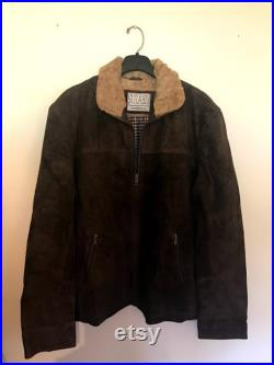 Standard Size Made to Order Brown real Suede Leather Jacket RG TWD Style