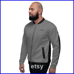 Stealth Grey and Black Bomber Jacket