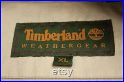 TIMBERLAND Weather Gear Water Repellent Cotton Jacket With Leather Collar SIZE XL