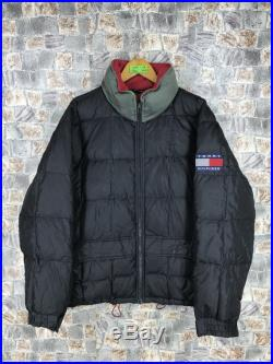 Details about Vintage 90s Tommy Hilfiger Tommy Jeans down puffer jacket