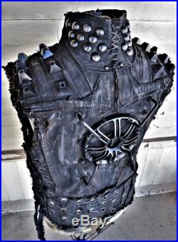 The Wheel of Law by SceneSick Post Apocalyptic Wasteland Armored Stage Wear Cyberpunk Cybergoth Warrior Biker Vest