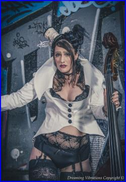 TheHootCameDownTheChimney Only When She Plays the Bass Musical Tailcoat one-of-a-kind handmade by Dreaming Vibrations