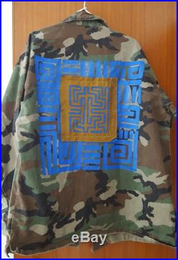 Tribal jacket with Mola with stones