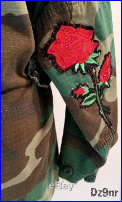 Ultimate Personalized Gift for Her- Customized Army Jacket- Unique One of a Kind OOAK Cool Present Wife Girlfriend Monogrammed Coat Military