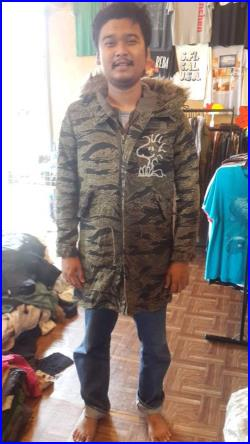 Ultra Rare Free Shipping Very Hard To Find One Of A Kind. Vintage Hysteric Glamour Long Jacket Parka Tiger Stripes Army World War