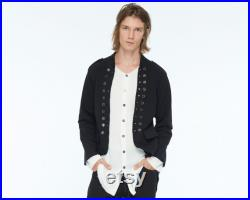 Unique Design boho black Pirate Jacket Limited edition concept clothing Extravagant Mens Clothing Mens Jacket by Mikey