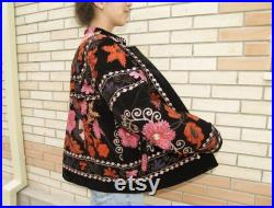 Uzbek Vintage Handmade High Quality Embroidered Cotton Chapan, Best To Suit, Must Have
