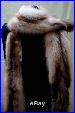 VINTAGE FUR STOLE Nutria or Fischer Art Deco era, evening Women's Fur, authentic 1925 Art Deco fur wrap stole Xmas Anniversary Wife Wedding