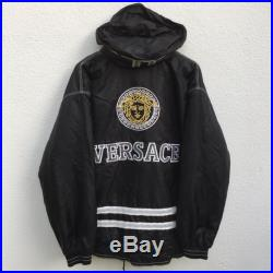 Versace vintage rare versace jeans couture jacket head medusa big embroidery
