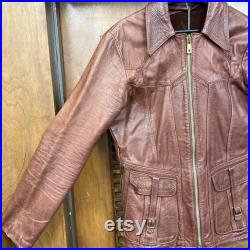 Vintage 1960 s East West Musical Instruments Smoke Leather Jacket, 60 s Leather Jacket, Vintage Jacket, Vintage Clothing