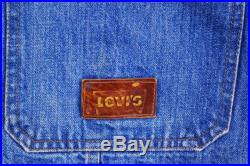 Vintage 1970's LEVIS Hippie Denim Jean Jacket with Embroidery Made in U.S.A. Retro Collectable Rare