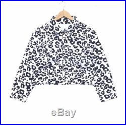 Vintage 90s Guess Georgia Marciano Leopards Camouflage Denime Jacket Button On Retro Rap Tees Hip Hop Streetwear Swag Dope Hype