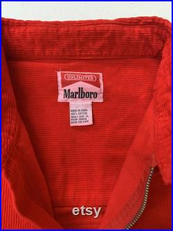 Vintage 90s NOS Marlboro Racing Corduroy 1 4 Zip Jacket Size XL Fits like 2XL See pics for measurements New Old Stock With Tags