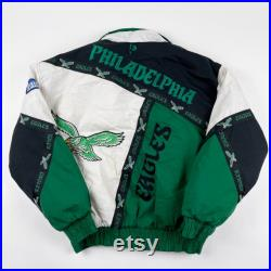 Vintage 90s Pro Player Philadelphia Eagles Insulated Jacket Mens Large Vtg 1990s Retro NFL Coat Rare Collectible Puffer Coat USA