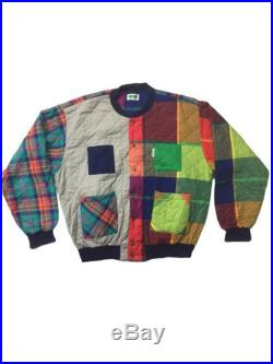 Vintage 90s United Colour Of Benetton Patchwork bomber jacket xl size