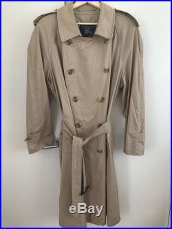 Vintage Burberry Cotton Trench Coat