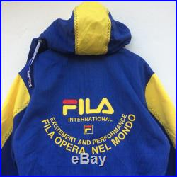 Vintage FILA Halfzip Colourblock Big Logo Hoodie Jacket (new old stock witth tag)