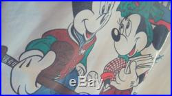 Vintage Mickey and Minnie Jacket Reversible Button Up Puffer Baffled Quilted Insulated