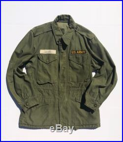 Vintage Military Cold Weather Army Green Jacket Coat Men's Small
