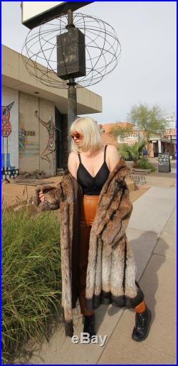 Vintage 'Saxton Hall' Vegan Faux Fur Coat Winter Glamours Old Hollywood Royal Mink Lush