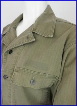 Vintage US Army WWII Modified Herringbone Jacket Blouse size Small Medium