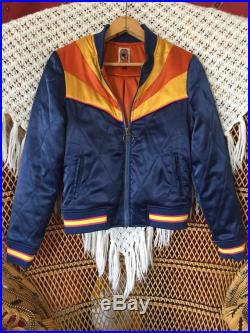 WAITLIST Rising Sun Jacket Navy Blue Quilted 70s style Bomber Jacket lightweight ski jacket as seen on classicrockcouture