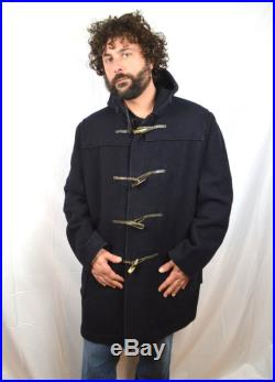 WOW Vintage Wool 1960s Hudson's Bay Wool Gloverall Original English Duffle Coat Made in England