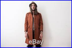 Wool Coat 1960s Trench Coat Auburn Overcoat Jacket Autumn Winter Double Breasted Women Coat Wooden Buttons Antique Custom Made Manteau Laine