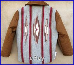 Woolen Chimayo Rio Grande style jacket, with pseudo-suede sleeves and trim, Size 36 lined, 7211564
