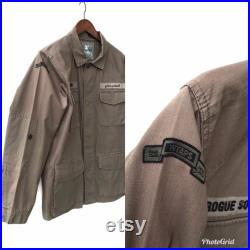 Wtaps Military Jacket Vintage Wtaps Tactical Military Jacket Wtaps Japanese Streetwear Casual Jacket Medium ( faded and Stains )
