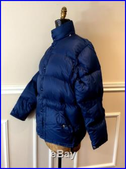 vintage Puffer Jacket Blue Goose Down Ski Jacket 1980s Early 90s Oversized Plus Size Chest 50 Woods Brand Made in Canada