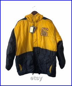 vintage grambling state conic jacket coat mens size large deadstock NWT 90s